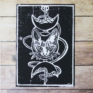 copy of Linogravure A4 Chat...